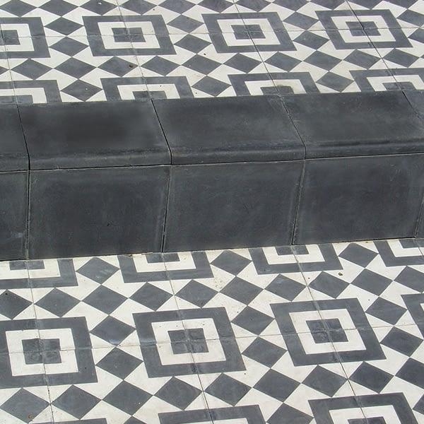 French Encaustic Field Tile